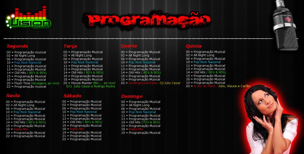Programação Radio Vision